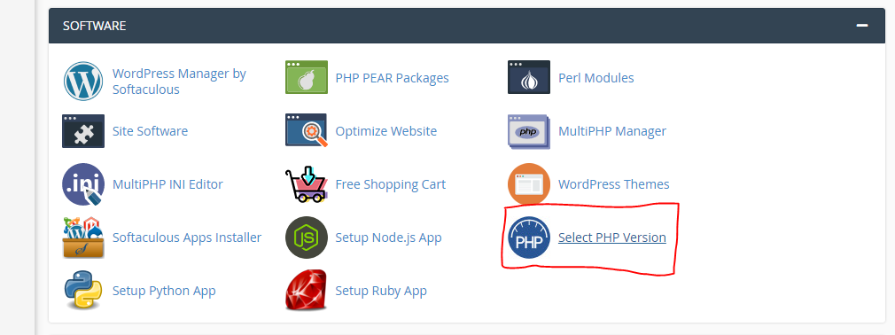 select php version buehosting.pk